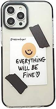 时尚微笑设计透明手机壳适用于 Apple iPhone 12 Pro Max 6.7 英寸保护防刮超薄 TPU 手机保护套时尚防震皮套适用于 iPhone 12 Pro Max