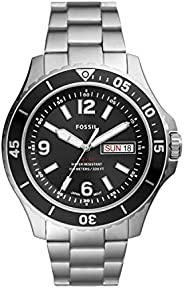 Fossil 男士 FB-02 三指针日期不锈钢手表
