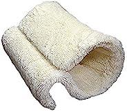 红木豪华品质猫窝和床,散热器或落地,温暖,舒适*的猫窝 H40 X D31 X W31 厘米,奶油色
