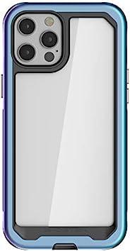 Ghostek Atomic 超薄设计适用于 iPhone 12 Pro Max 手机壳,带保护金属缓冲垫,采用超坚固轻质*级铝合金制成,iPhone 12 Pro Max 5G(6.7 英寸)(棱镜)