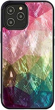 ikins 2020 iPhone (6.7英寸) 手机壳 天然贝 Pearl Qi充电 无线充电 iPhone 12 Pro Max 手机套 Water flower I19298i12PM【日本正规代理店商品】