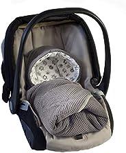 MoMika 襁褓毯 | 睡袋 I 通用型汽車*座椅 | 嬰兒車 | 嬰兒床或嬰兒床 | * 純棉 Graphite-Elephant