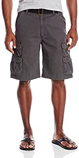 Wrangler Authentics 男式优质斜纹工装短裤 无烟煤斜纹布 30