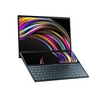 ASUS 华硕 ZenBook Duo UX481 14英寸FHD NanoEdge边框触摸显示屏,英特尔酷睿i7-10510U处理器,8GB RAM,512GB PCIe SSD,创新屏幕平板Plus,Windows 10家庭版,天蓝色,UX481FA-DB71T