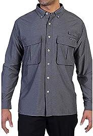 ExOfficio 男士防空条纹长袖衬衫