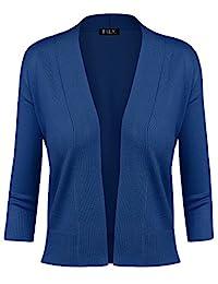 BH B.I.L.Y USA 女式经典开襟短款开衫