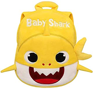 Baby Shark 幼儿迷你背包,婴儿鲨鱼毛绒钱包玩具背包,适合女孩、男孩、儿童,鲨鱼填充动物学前背包(黄色 - 婴儿鲨鱼)