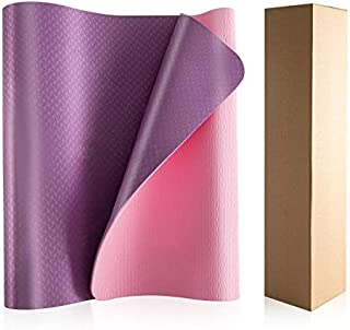 MEILIAN 环保TPE 防滑普拉提锻炼辅助瑜伽垫 72 x 24 x 0.2 英寸(约 182.9 x 60.9 x 0.6 厘米)配有绳子辅助锻炼