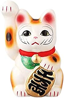Ale-net 招财猫 存钱罐 白色 小号 瓷器 濑户烧