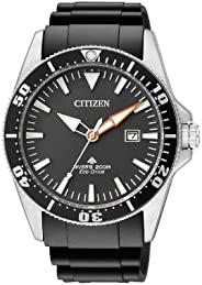 Citizen 西铁城 男式模拟石英手表橡胶表带 BN0100-42E
