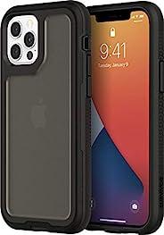Griffin Survivor Extreme手机壳符合军事标准,适用于Apple iPhone 12/12 Pro(6.1英寸)[非常坚固 I 4.9米防摔 I 减震角 I Qi兼容手机壳](黑色)GIP-060-B