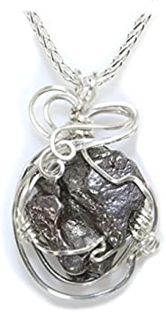 优质 Meteorite 珠宝项链 女士吊坠,不锈钢丝缠绕