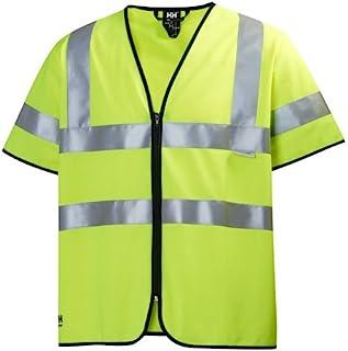 Helly Hansen 警告背心 Hivis 短袖 79218 带拉链 360 XL,黄色