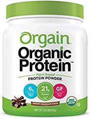 Orgain Organic Plant Based Protein Powder, Creamy Chocolate Fudge, 1.02 Pound, Packaging May Vary