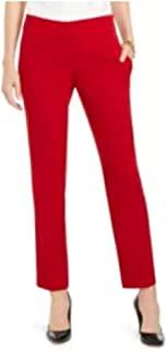Kasper 修身直筒现代长裤 火红色 尺码 14