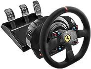 Thrustmaster 图马思特 T300法拉利一体化赛车轮Alcantara版 - 游戏控制(Wheel + Pedals,PC,PlayStation 4,Playstation 3,D-pad,模拟/数字,Win
