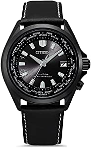 Citizen 西铁城 男式模拟光动能手表皮革表带 CB0225-14E