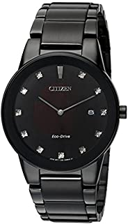 Citizen 西铁城 Axiom 光动能黑色表盘男式手表