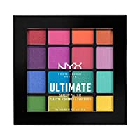 NYX 專業化妝 終極眼影調色板,眼影盤,16種顏色,亮色和金屬色,個性化飾面,顏色:亮色