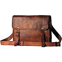 皮包 13 英寸 男式 真皮 邮差 学院 Macbook Air Pro 笔记本电脑 iPad 平板电脑 办公室 公文包 挎包 包