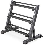 Marcy 3 层金属钢家庭锻炼健身哑铃重量架储物架