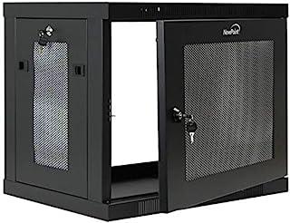NavePoint 9U 壁装式机架柜服务器柜16.5 英寸深,开关深度穿孔门锁