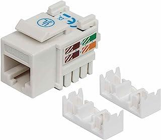 Intellinet 210591 Cat6 Keystone Jack,UTP,白色,冲压