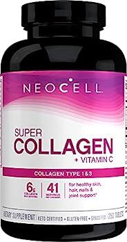 Neocell超级胶原+ C型1和3 6000mg plus维生素C 250粒
