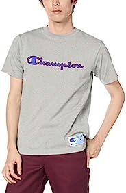 Champion(チャンピオン) 男士短袖T恤 纯棉 字母商标刺绣 配色 JOG C3-Q301