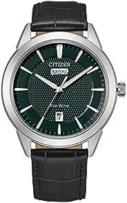 Citizen 西铁城 光动能黑色皮革表带手表 AW0090-02X