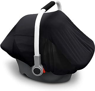 男婴婴儿汽车座椅遮阳篷 婴儿汽车座椅套 适用于新生儿通用汽车座椅遮阳罩