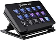 Elgato Stream Deck 宏按键控制台 15个可定制液晶按键 可调节支架 用于Windows 10、MacOS 10.11或更高版本
