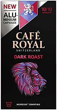 Café Royal Dark Roast Nespresso 兼容铝制咖啡豆荚,0.05 千克