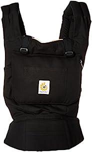Ergobaby 原创获*人体工程学多位置婴儿背带,带腰部支撑,储物袋 黑色/驼色 均码