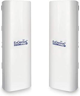 EnGenius Technologies ENH500v3 Wi-Fi 5 Wave 2 户外 AC867 5GHz 即插即用无线 CPE/客户端桥,PTP/PTMP,IP55,27dBm 带 16 dBi 高增益天线,远距离可达 5 英里[...