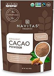 Navitas Organics 可可粉,24盎司/680克 袋裝—Non-GMO 公平貿易,無麩質