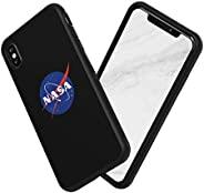 RhinoShield 手机壳与 [iPhone Xs Max] 兼容| SolidSuit - 减震超薄设计保护壳 | NASA Cosmos 系列定制手机壳 - 肉球(黑色)