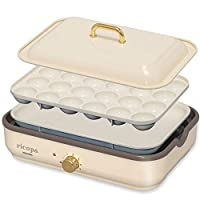 IRIS OHYAMA 愛麗思歐雅瑪 電熱烤盤 2WAY (章魚燒烤盤) ricopa 3種顏色展開 本體/套裝 1) アイボリー MHP-R102-C