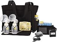 Medela 美德乐 Pump in Style 高级吸奶器带手提包,双电动吸奶器,便携式电池组,可调节速度和真空,国际适配器