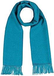 奢华 * 纯婴儿羊驼羊毛围巾 男女皆宜 - 多种颜色的送礼佳品, 浅蓝色, 均码