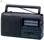 Panasonic 松下 便攜式收音機 RF-3500E9-K(模擬調諧器UKW/MW/LW/KW,電源或電池驅動),黑色