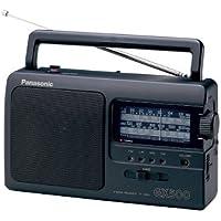 Panasonic 松下 便携式收音机 RF-3500E9-K(模拟调谐器UKW/MW/LW/KW,电源或电池驱动),黑…