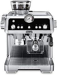 De'Longhi 德龙 La Specialista 特浓咖啡机,带有感应研磨器,双重加热系统,高级拿铁系统和用于美洲咖啡或茶的热水喷嘴,不锈钢,EC9