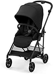 Cybex Melio Carbon 碳纤维婴儿手推车(2021年更新款) 深黑色 JP 适合出生1个月以上的婴幼儿