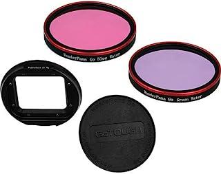 Fotodiox Pro WonderPana Go H3 水下套件 GoTough 过滤器适配器系统适用于 GoPro Hero3 防水外壳,带 2 个水修正过滤器(玫瑰-粉色和紫色)