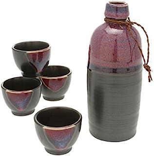 Kotobuki Sake 套装缎面黑色和紫色