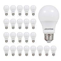 SYLVANIA 60W Equivalent, LED Light Bulb, A19 Lamp, Efficient 8.5W, Soft White 2700K, 24 Pack