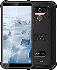 Oukitel WP5 解锁坚固智能手机 - 8000mAh 电池 IP68 防水 Android 10 解锁手机 4G LTE 双 SIM 卡,5.5 英寸 4GB 32GB 三重摄像头面部/指纹解锁(黑色)