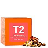 T2 Tea - Twinkle Berry Fruit Tea, Loose Leaf Flavoured Fruit Tisane in Gift Cube, 100g, 3.5oz