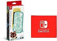 Nintendo 任天堂 Switch Lite 便携包 集合吧!动物森友会版 ~ 树叶心形图案~(附屏幕保护膜) (【Amazon.co.jp限定】Nintendo Switch 标志设计 超细纤维布 同捆)